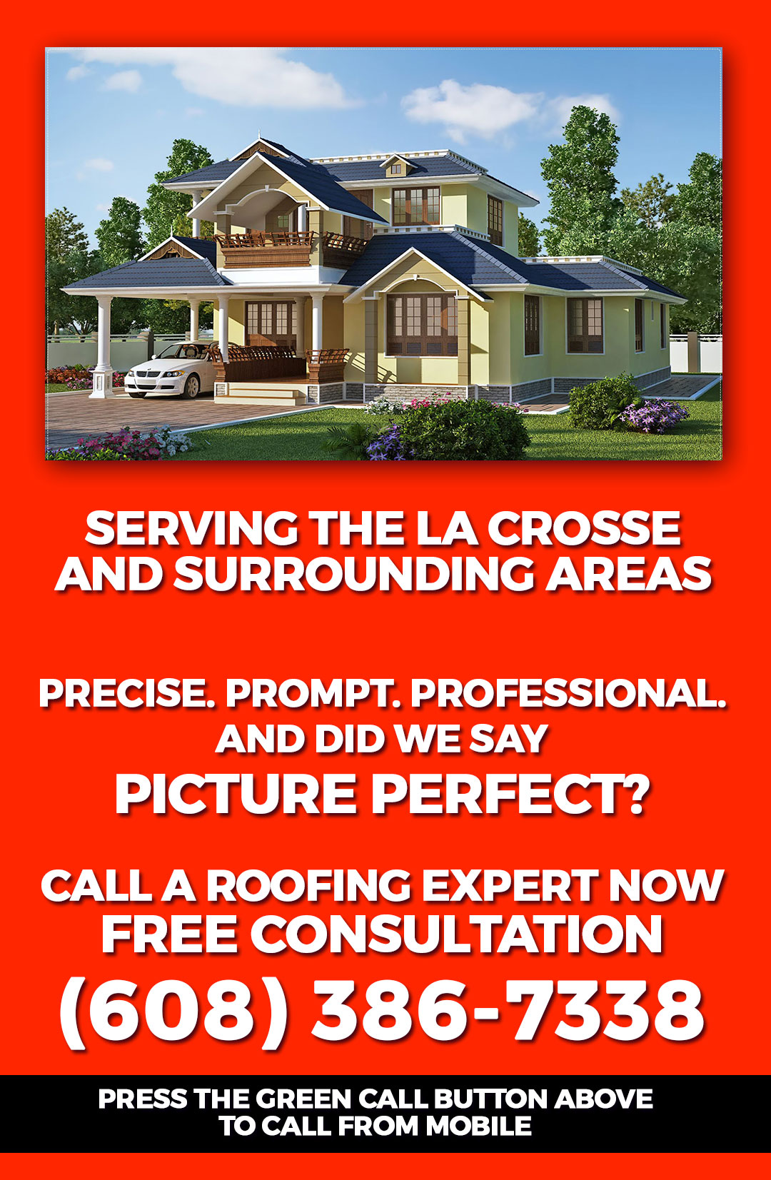 La Crosse WI Roofing Contractors 54601 Call Now